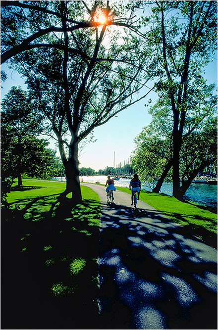 Cycling Couple - Toronto Islands